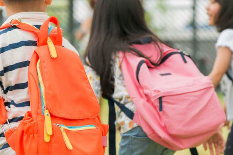 kids with backpacks
